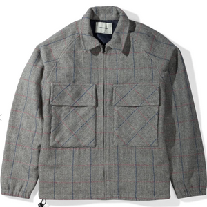 Native North Gofer Wool Coach Jacket (Grey)