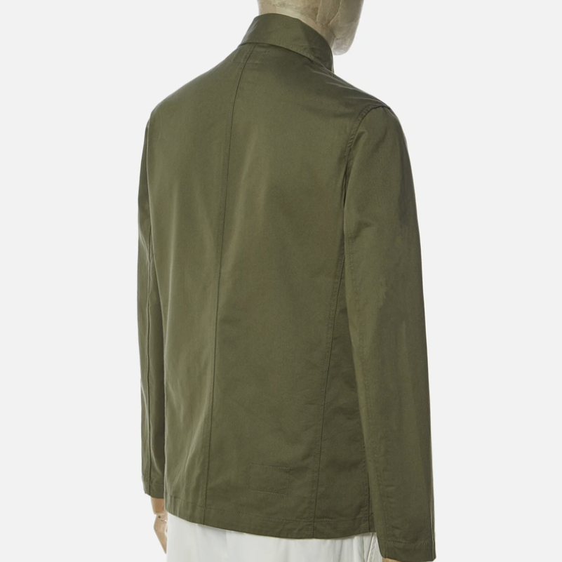 Universal Works Bakers Jacket (Light Olive)