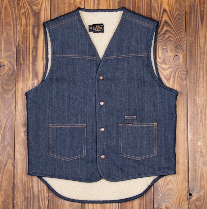 Pike Brothers 1966 Rodeo Vest (13 oz Indigo)