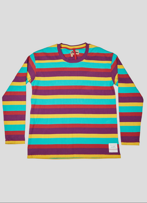 Nigel Cabourn Snap Sleeve Crew (Multi-stripe)