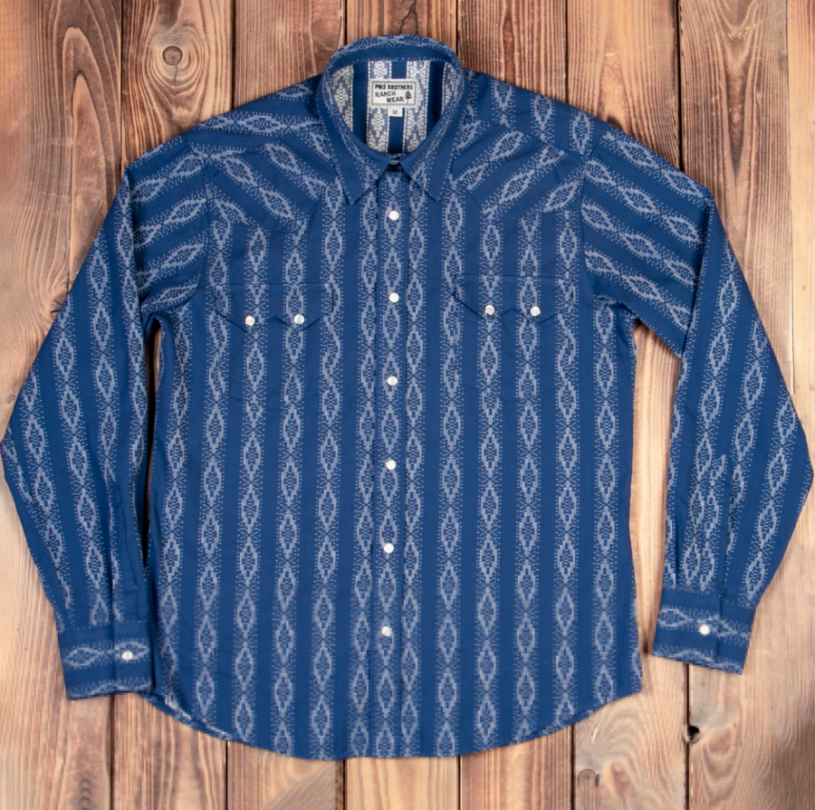 Pike Brothers Saw Tooth Shirt (Mojave Blue)