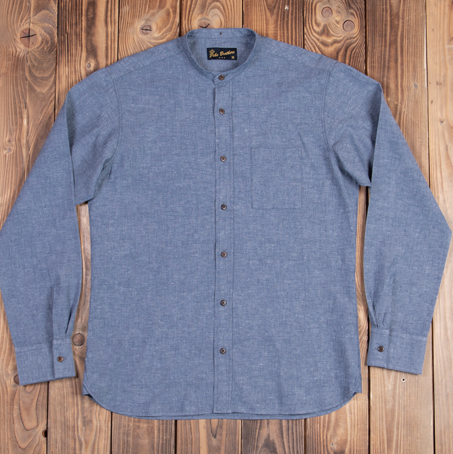 Pike Brothers 1923 Buccanoy Shirt (Ocean Blue)