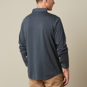 Hartford Cotton Jersey Shirt (Charcoal)