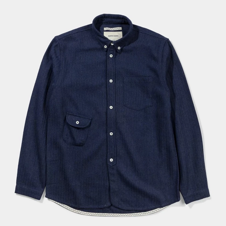 Native North Wool Workers Shirt (Blue)