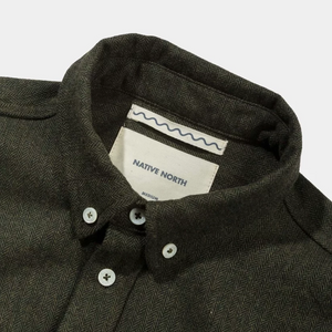 Native North Wool Herringbone Shirt (Green)