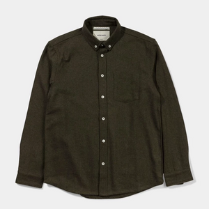 Native North Wool Herringbone Shirt (Moss)