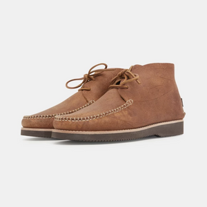 Yogi 'Lucas' Leather Moccasin Vibram Boot (Tan)