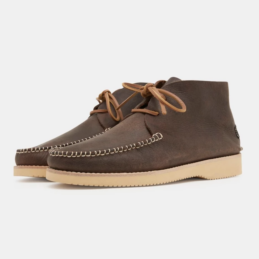 Yogi 'Lucas' Leather Moccasin Vibram Boot (Brown)