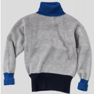 Nigel Cabourn Roll Neck (Grey/Navy/Royal Blue)