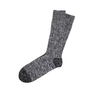 TWC Chunky Cotton Socks (Charcoal Mix)