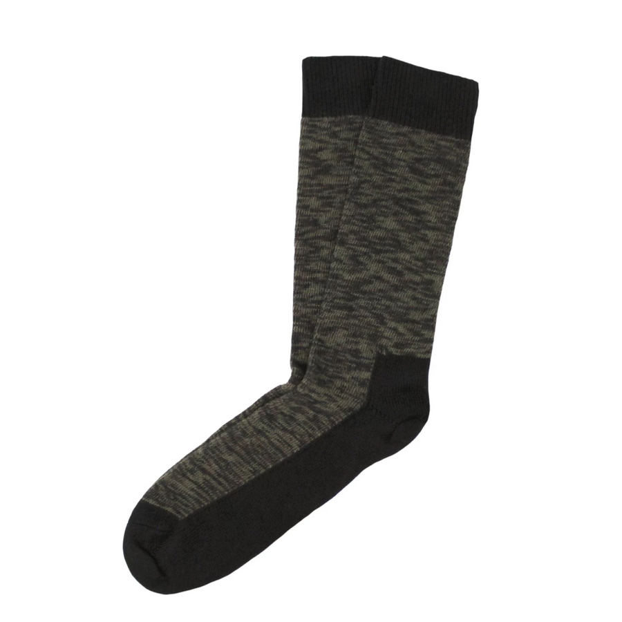 TWC Ribbed Cotton Socks (Khaki/Black Mix)
