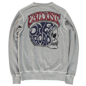 Eat Dust Skull Sweatshirt (Grey Melange)