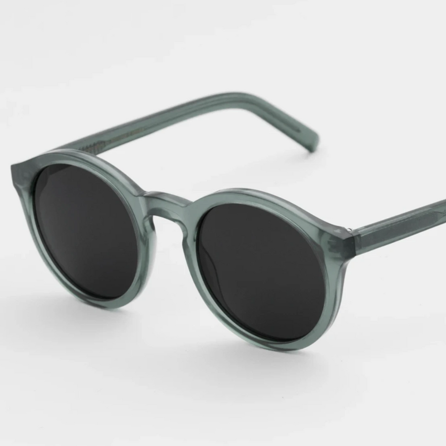 Monokel 'Barstow' (Clear Green - Solid Grey Lenses)