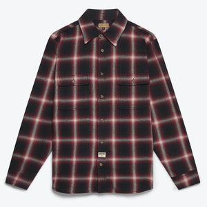 Dubbleward Milton Ombre Shirt (Red/Black)