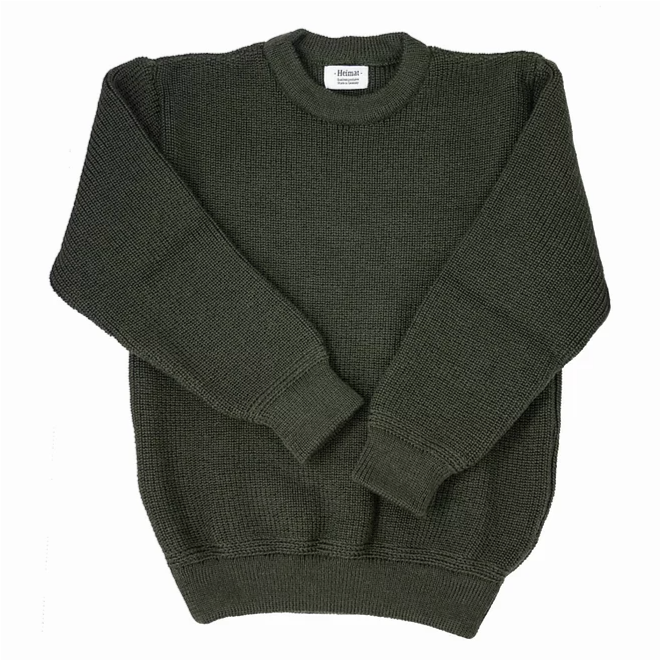 Heimat Crew Neck Sweater (Military Green)