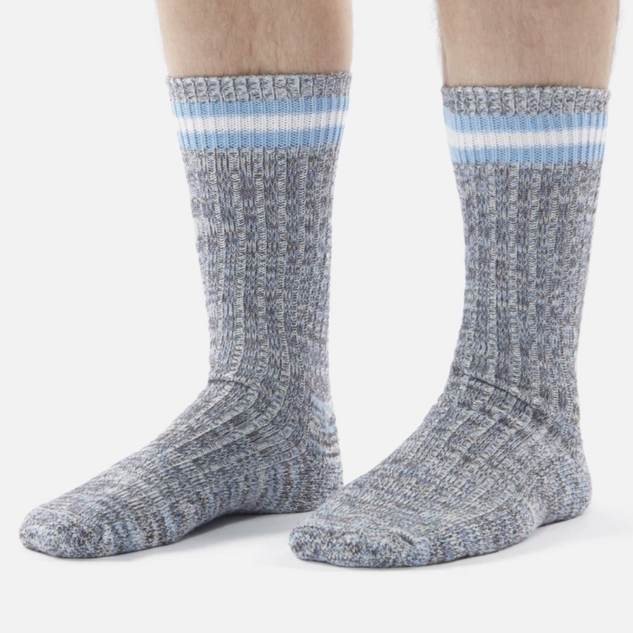 Universal Works Everyday Stripe Sock (Cornish Blue)