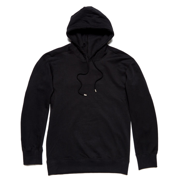 Forge Denim Ribbed Hoodie (Black)
