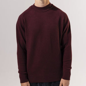 Unfeigned Cashmere Knit (Burgundy)