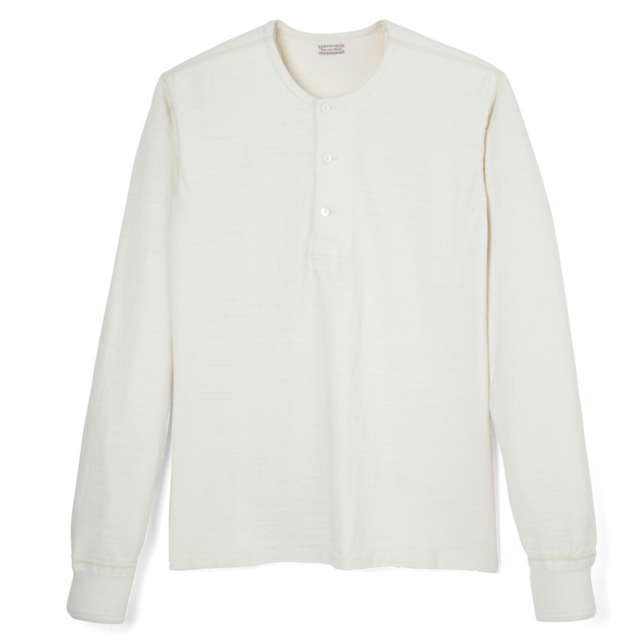 Stevenson Overall Co. Long Sleeve Henley (Oatmeal)