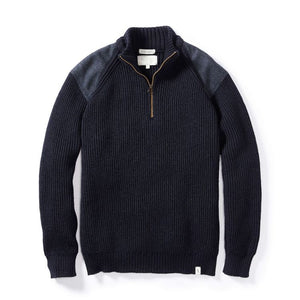 Peregrine Foxton Zip Neck Sweater (Navy)