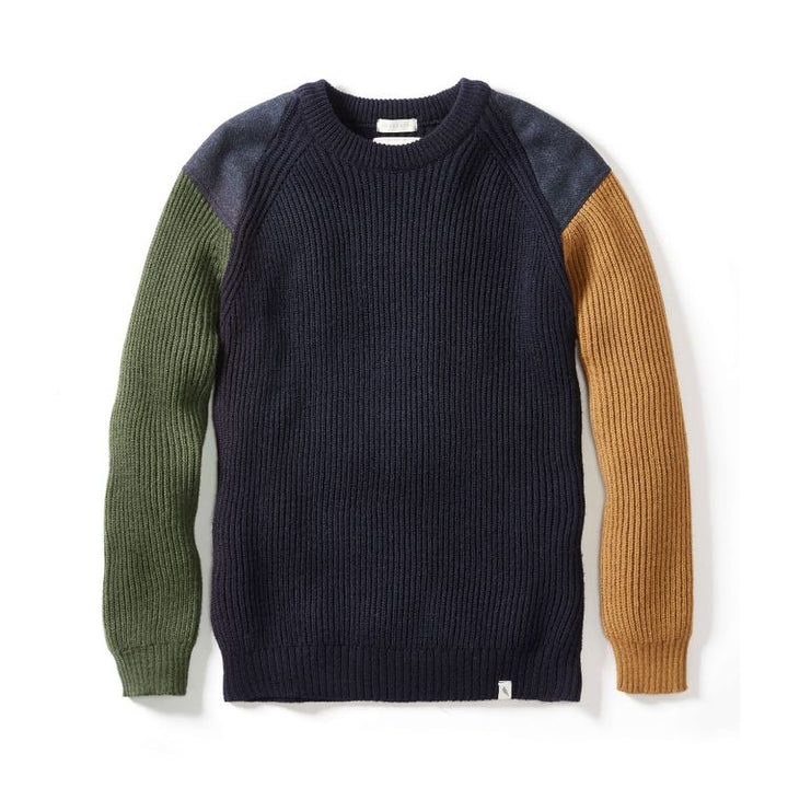 Peregrine Funky Jumper (Navy/Oliver/Wheat)