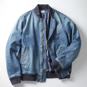Japan Blue Bomber Jacket (Military Denim)