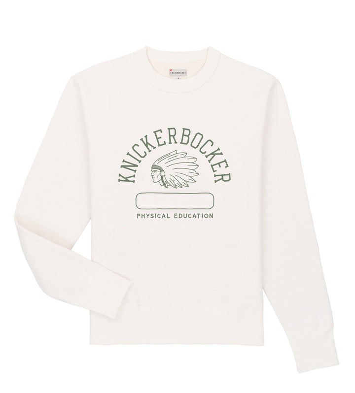 Knickerbocker Phys. Ed. Crew Neck Sweatshirt (Milk)