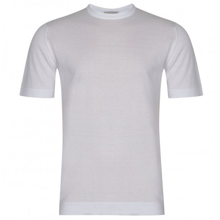John Smedley 'Lorca' Welted Tee (White)