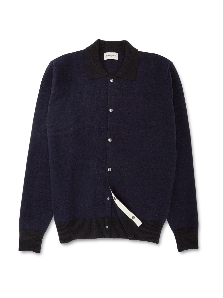 Oliver Spencer Roxwell Knitted Jacket (Navy)
