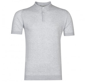 John Smedley Rhodes Polo Shirt (Feather Grey)