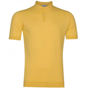 John Smedley 'Rhodes' Polo (Yellow Bloom)