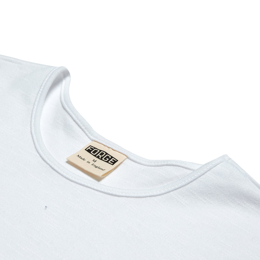Forge Denim Slub Cotton Tee (White)