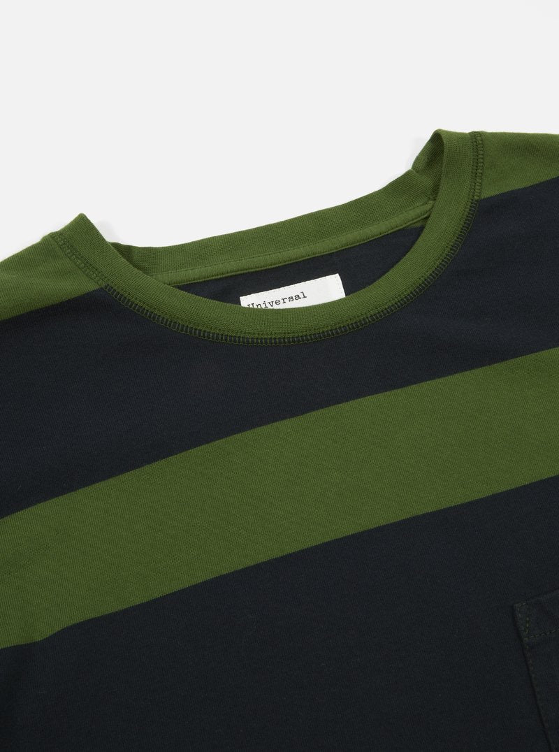 Universal Works Rugby Stripe L/S Tee (Green)