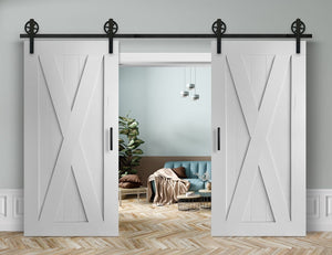 Schiebetür 2-Flügelig in Scheunentor-Optik Modell Elegance - Farmhouse Barn Door rustikal