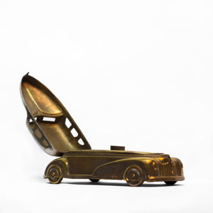 RARE CAR SHAPED PAN BOX WITH SEPARATE COMPARTMENTS