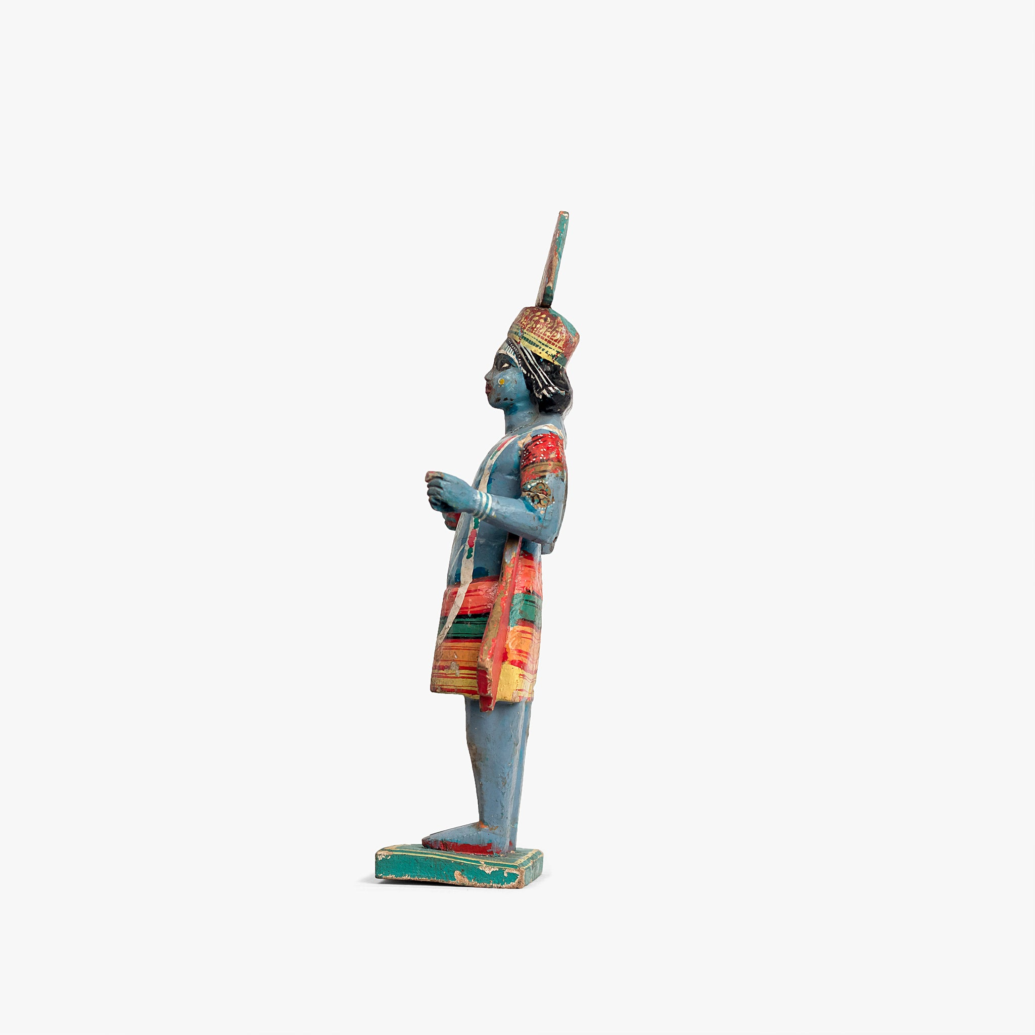 WOODEN  KRISHNA IDOL