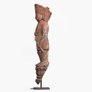 WOODEN IDOL OF A GUARD