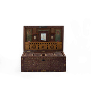 WOODEN CHEST WITH INLAY WORK