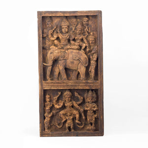 SHIVA AND PARVATI ON ELEPHANT