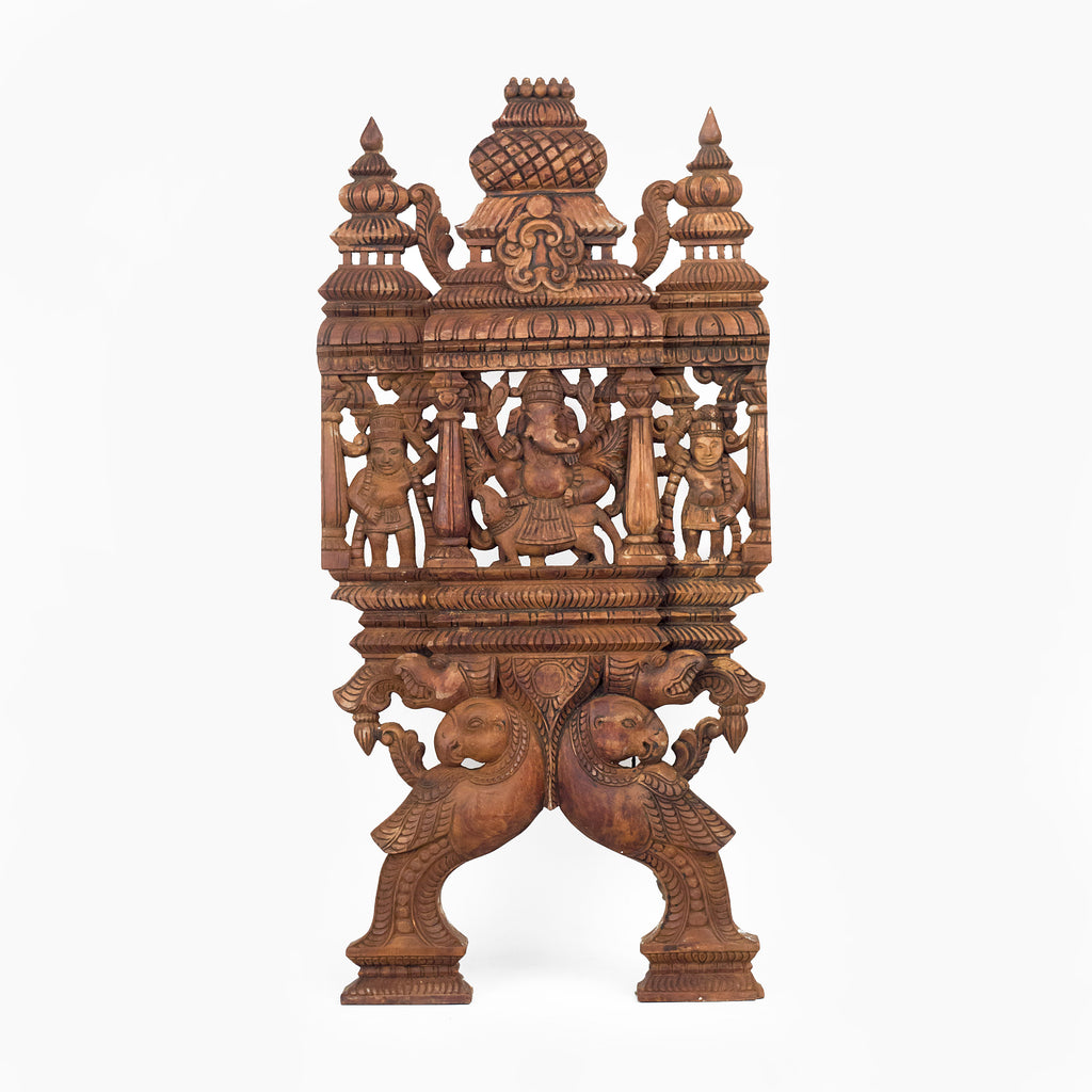 HAND CARVED KAVADI WITH GANESHA