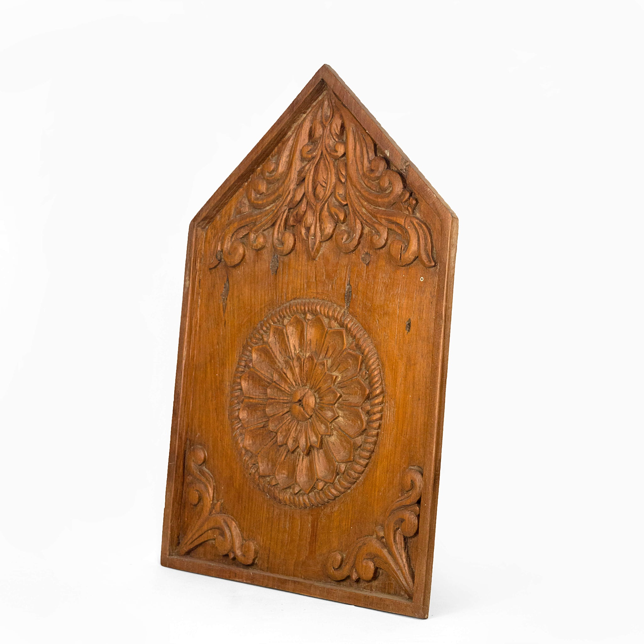 CARVED PANEL WITH FLOWER MOTIF