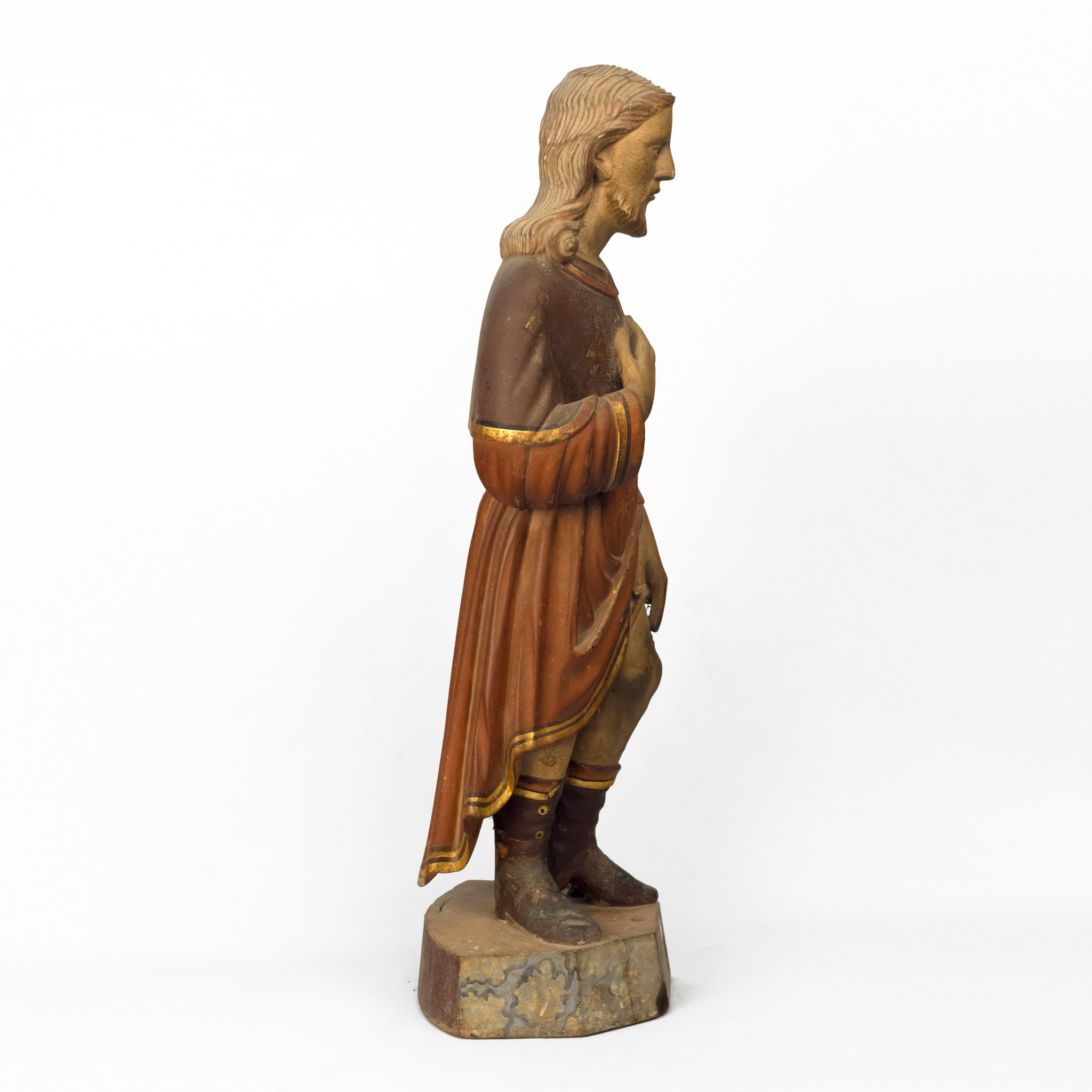 ST. ROCKY POLYCHROME WOODEN IDOL