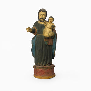 WOODEN IDOL OF ST. JOSEPH