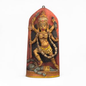 GODDESS KALI IN WOOD