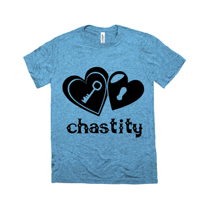 Lock & Key Chastity - Bella + Canvas 3413C Unisex Tri-Blend Crew Neck Tee