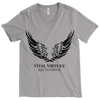 Vital Virtues - Bella+Canvas 3415 Unisex Tri-Blend Short Sleeve V-Neck Tee Grey
