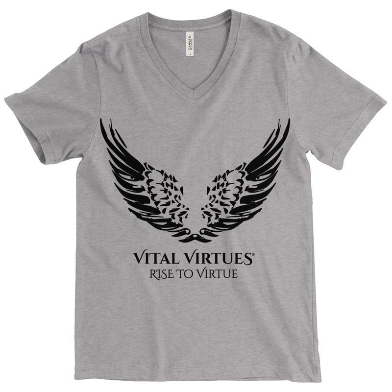 Vital Virtues - Bella+Canvas 3415 Unisex Tri-Blend Short Sleeve V-Neck Tee Size Chart
