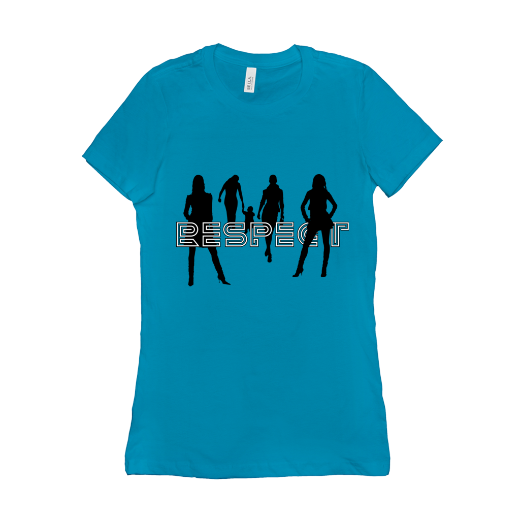 Respect Women - 6004 Bella+Canvas Women's The Favorite Tee Turquoise