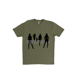 Respect Women - 6210 Next Level Apparel Premium Unisex Fitted CVC Crew Military Green
