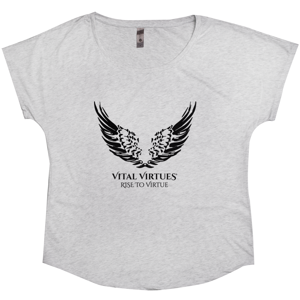 Vital Virtues - 6760 Next Level Apparel Women's Tri-Blend Dolman Heather White